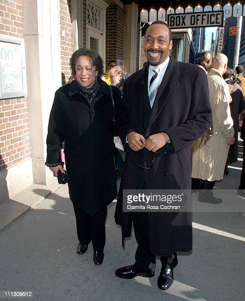 S Epatha Merkerson and Jesse Martin during Woodie King Jr's New Federal Theater 35th Anniversary Gala Benefit at Town Hall in New York City New York...
