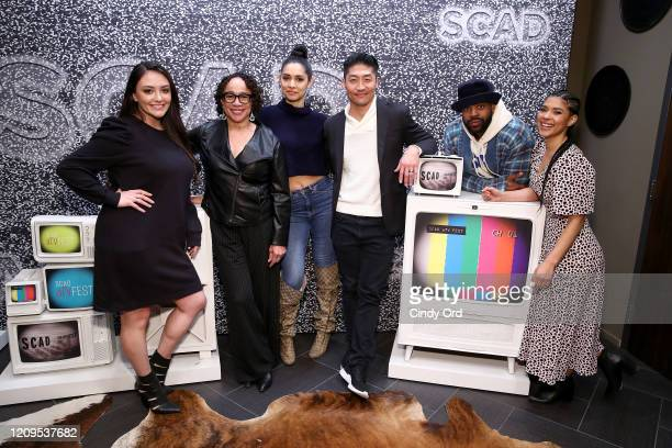 S Epatha Merkerson Miranda Rae Mayo Brian Tee LaRoyce Hawkins and Lisseth Chavez attend the SCAD aTVfest 2020 The Windy City Trifecta Dick Wolf's...