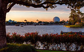 Epcot in Disney World at Sunset