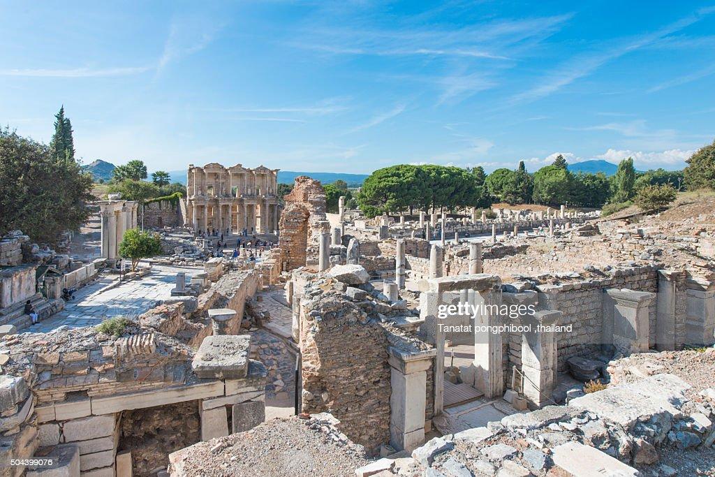 Ephesus, Library of Celsus, Turkey. : Stock Photo