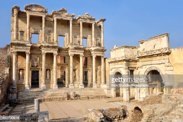 Ephesus, the Ancient Library of Celsus, Turkey.