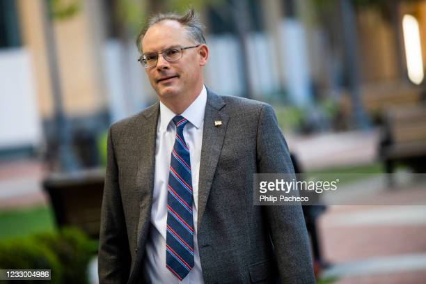 Epic Games CEO Tim Sweeney arrives at the United States District Court on May 20, 2021 in Oakland, California. Epic Games, the maker of popular video...