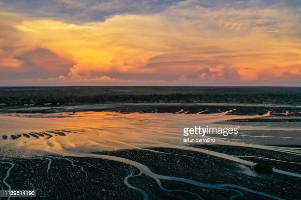 epic sunset - angola stock pictures, royalty-free photos & images