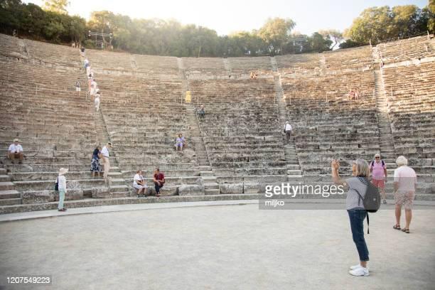 epidaurus amphitheater - miljko stock pictures, royalty-free photos & images