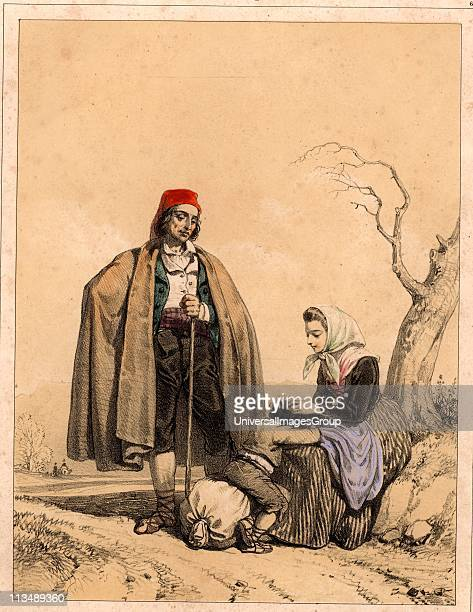Epidemic Typhus or Gaol Fever caused by the organism Rickettsia prowazeki is spread by lice Here a peasant woman in the Spanish Pyrenees is removing...