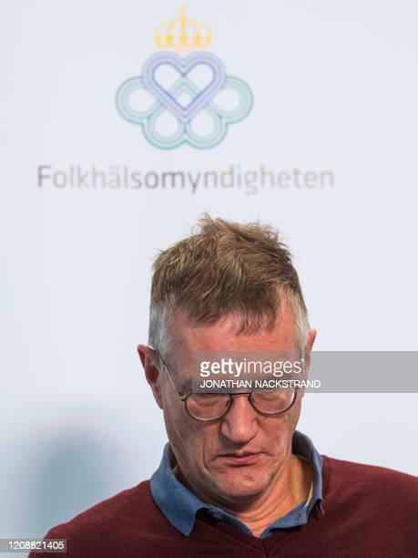 Epidemiologist Anders Tegnell of the Public Health Agency of Sweden attends a press conference to update on the COVID19 coronavirus situation on...
