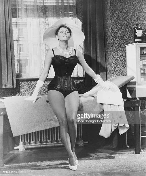 Epifania Parerga dressed in lingerie in the 1960 comedy The Millionairess