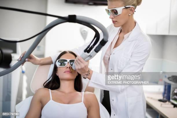 Epilation in beauty salon