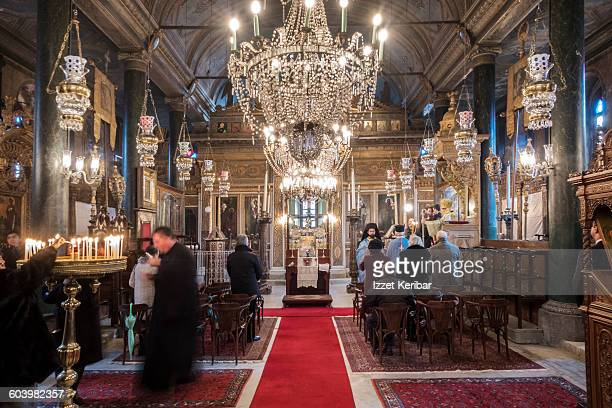 epiphany ceremony  panaghia greek orthodox church - greek orthodoxy stock pictures, royalty-free photos & images
