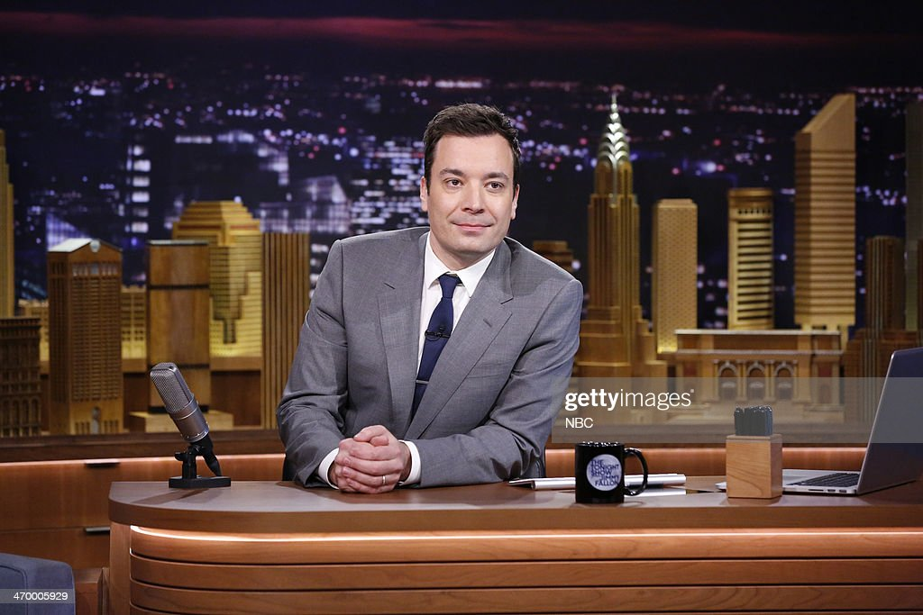 Host Jimmy Fallon on February 17, 2014 --
