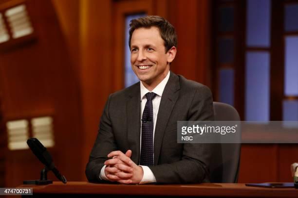 Host Seth Meyers on February 24 2014