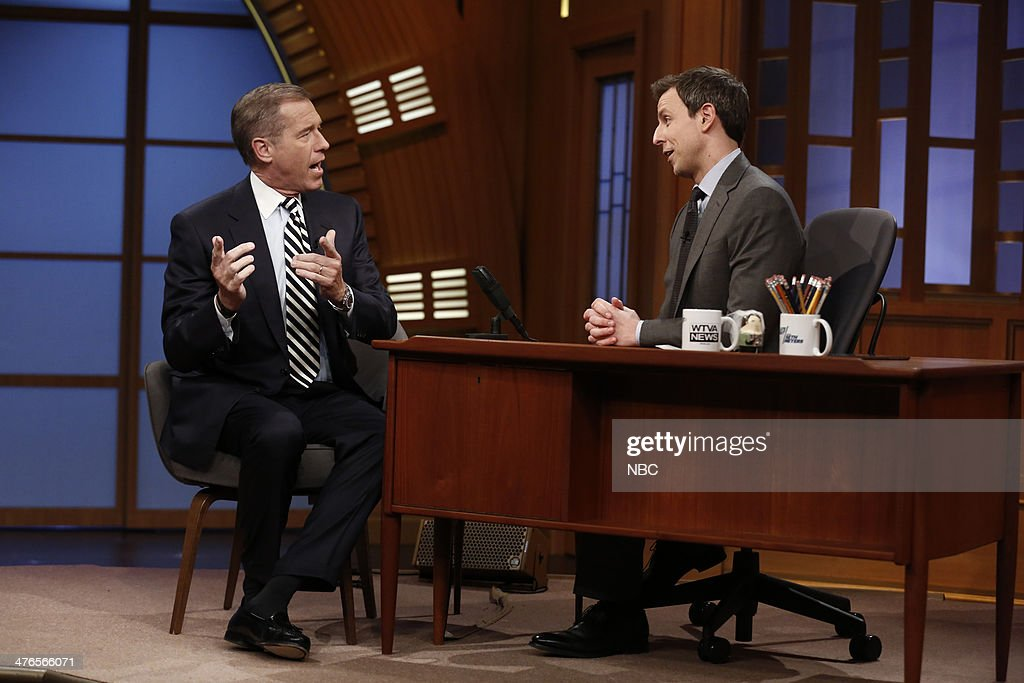 NBC Nightly News anchor Brian Williams during an interview with host
