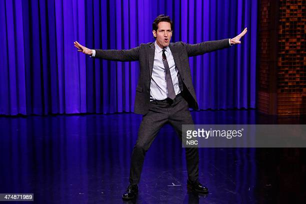 Actor Paul Rudd and Jimmy Fallon have a Lip Sync Battle on February 25 2014