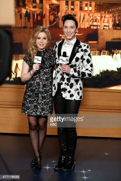 Olympic figure skaters Tara Lipinski and Johnny Weir on March 7 2014