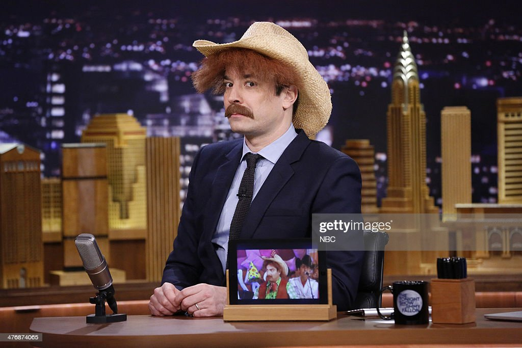 Host Jimmy Fallon during the 'Screen Grab' segment on March 5, 2014 --
