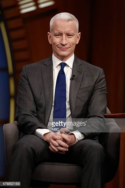 Journalist Anderson Cooper on March 17 2014