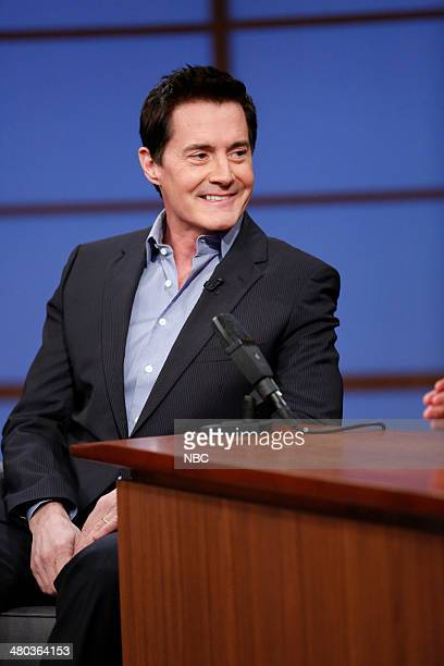 Actor Kyle Maclachlan during an interview with host Seth Meyers on March 24 2014