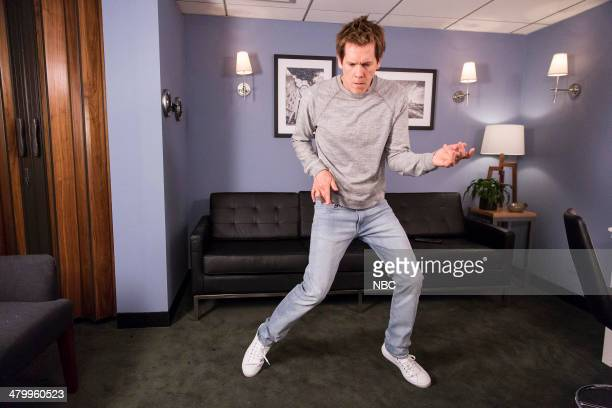 After Jimmy announces that The Tonight Show has banned dancing actor Kevin Bacon breaks the rules with an epic entrance on March 21 2014