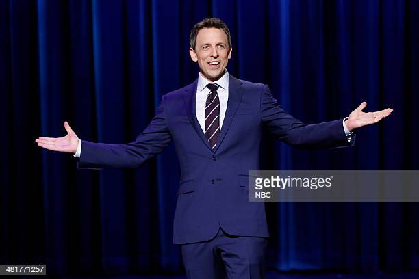 Host Seth Meyers during the monologue on March 31 2014