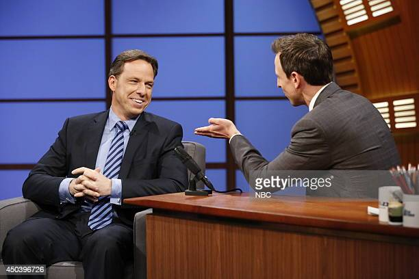 Journalist Jake Tapper during an interview with host Seth Meyers on June 9 2014