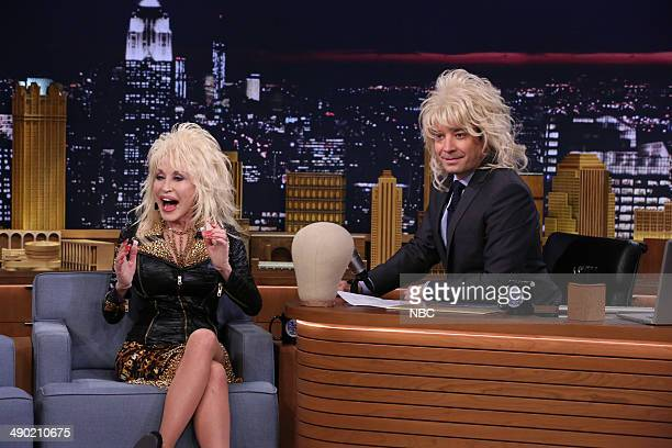 Singer Dolly Parton during an interview with host Jimmy Fallon on May 13 2014
