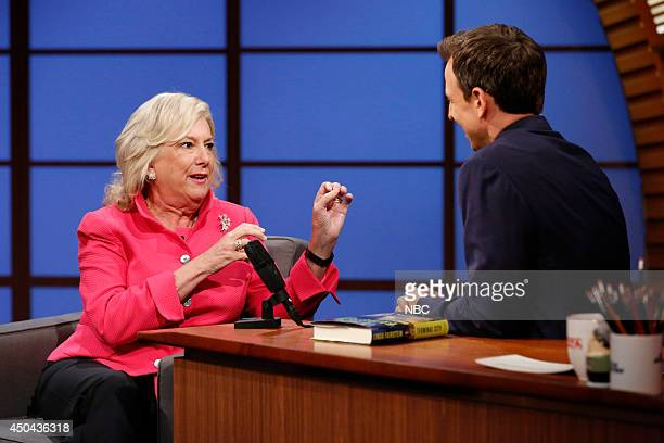 Author Linda Fairstein during an interview with host Seth Meyers on June 10 2014