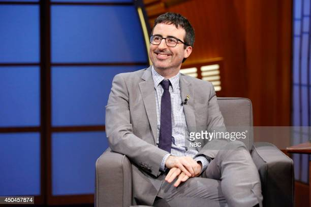 Comedian John Oliver during an interview on June 11 2014