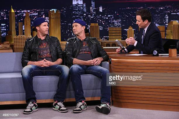 Episode 0064 -- Pictured: Actor Will Ferrell and drummer Chad Smith during an interview with host Jimmy Fallon on May 22, 2014 --