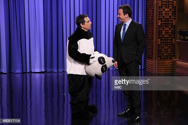 Actor Ben Stiller and host Jimmy Fallon on June 12 2014