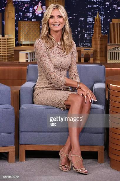 Model Heidi Klum on July 30 2014