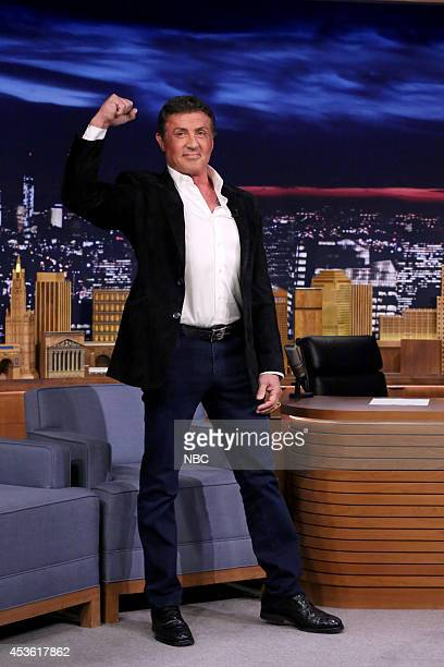 Actor Sylvester Stallone arrives on August 14 2014
