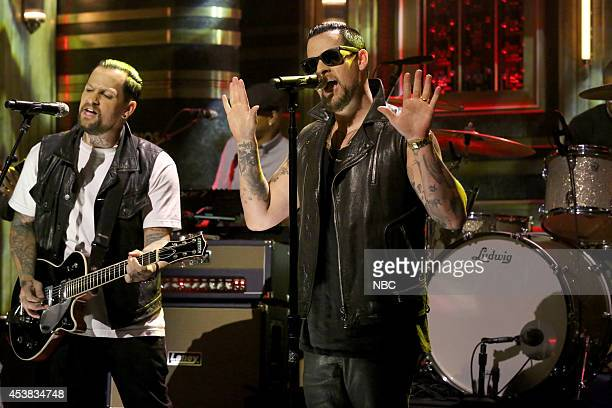 Benji Madden and Joel Madden of musical guest The Madden Brothers perform on August 19 2014