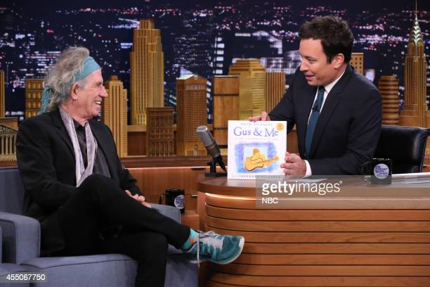 Musician Keith Richards during an interview with host Jimmy Fallon on September 9 2014