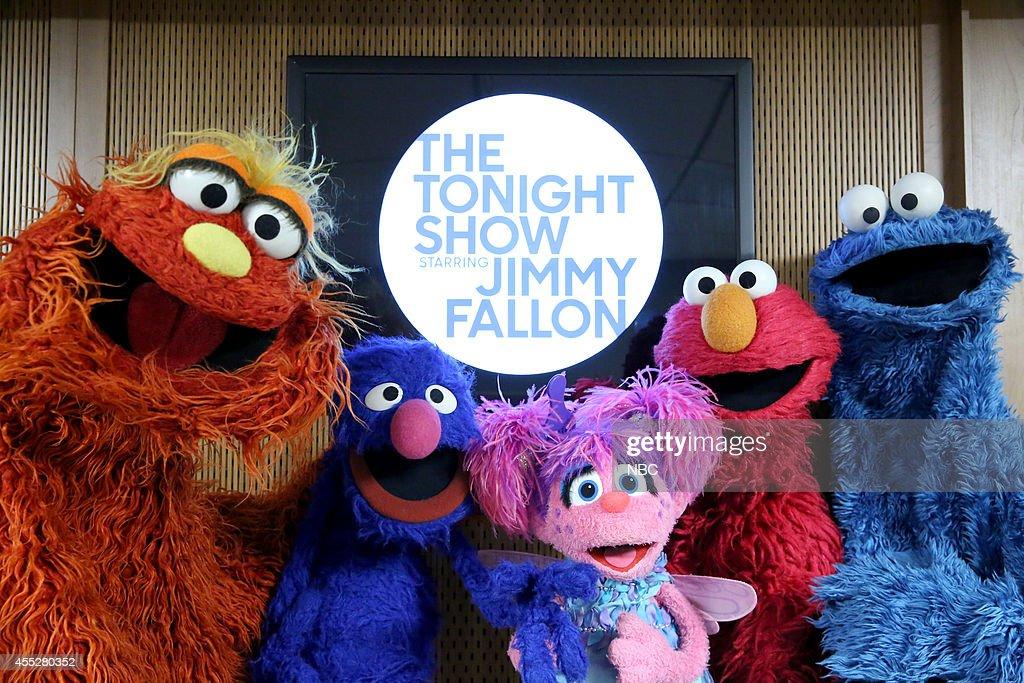 Sesame Street characters Murray Monster, Grover, Abby, Elmo