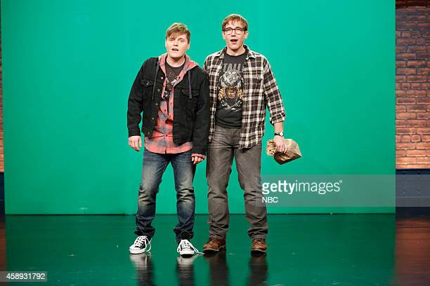 Ben Warheit and Conner O'Malley during the 'Closer Look' skit on November 13 2014