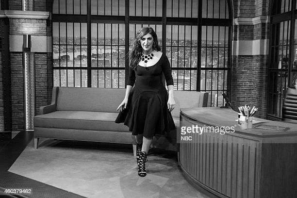 MEYERS Episode 0131 Pictured Actress Mayim Bialik departs after an interview on November 20 2014