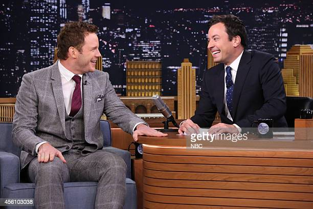 Actor Chris Pratt during an interview with host Jimmy Fallon on September 25 2014