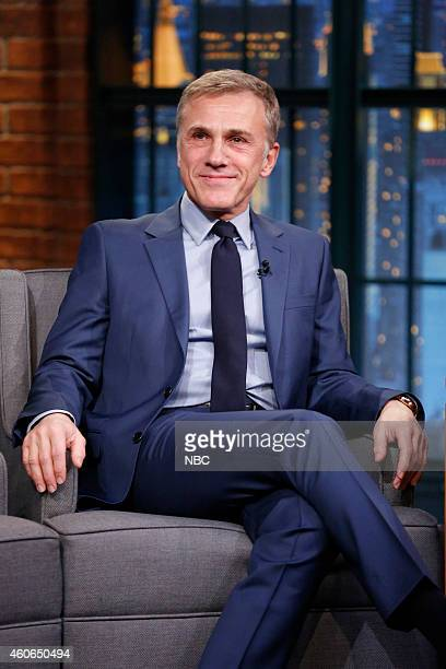 Actor Christoph Waltz during an interview on December 18 2014