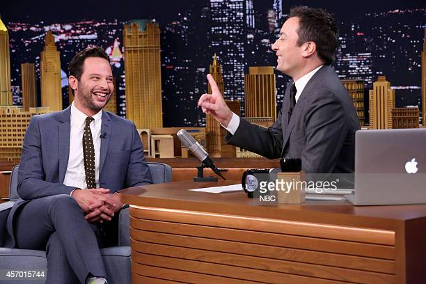 Actor Nick Kroll during an interview with host Jimmy Fallon on October 10 2014