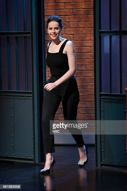 Actress Felicity Jones arrives on January 22 2015