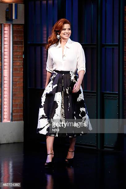 Actress Debra Messing arrives on February 3 2015