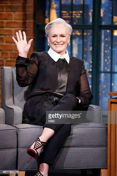 Actress Glenn Close during an interview on February 4 2015