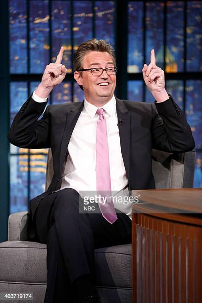 Actor Matthew Perry during an interview on February 17 2015