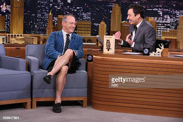 Author David Sedaris during an interview with host Jimmy Fallon on December 2 2014