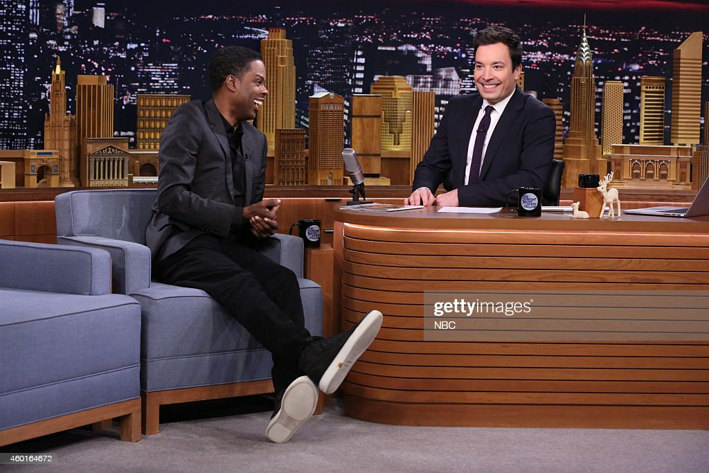Comedian Chris Rock during an interview with host Jimmy Fallon on December 8, 2014 --