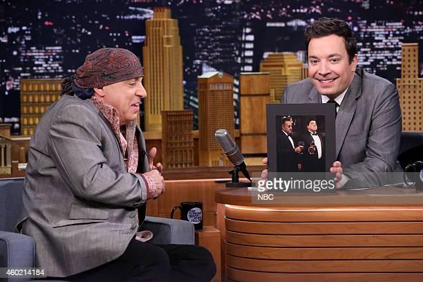 Musician Steven Van Zandt during an interview with host Jimmy Fallon on December 9 2014