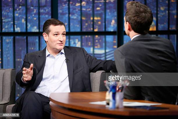 Senator Ted Cruz during an interview with host Seth Meyers on March 16 2015