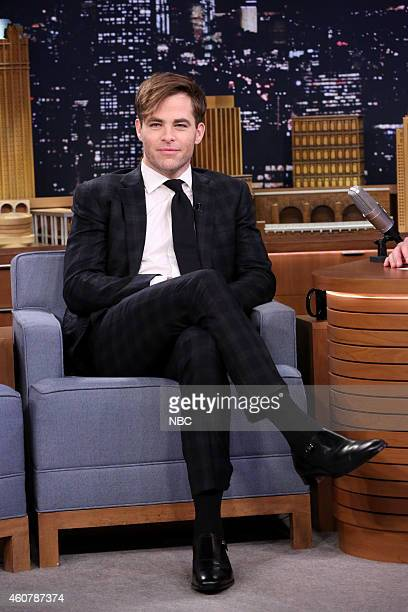Actor Chris Pine on December 22 2014