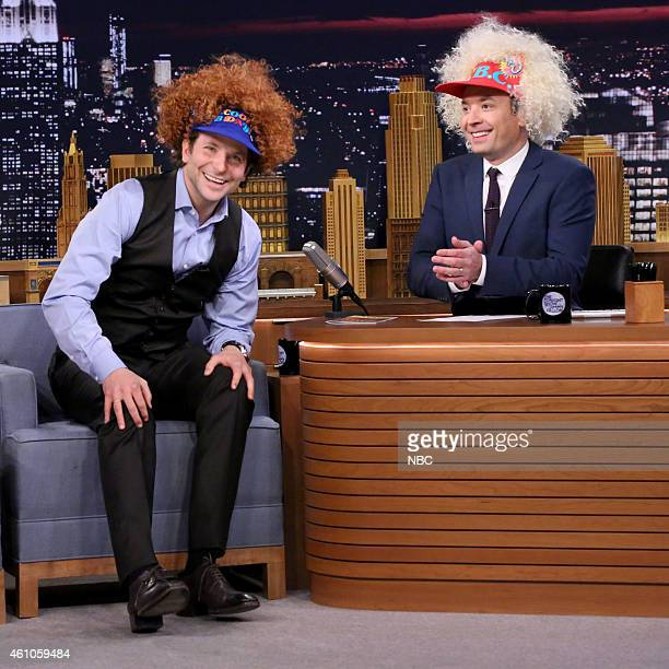Actor Bradley Cooper during an interview with host Jimmy Fallon on January 5 2015