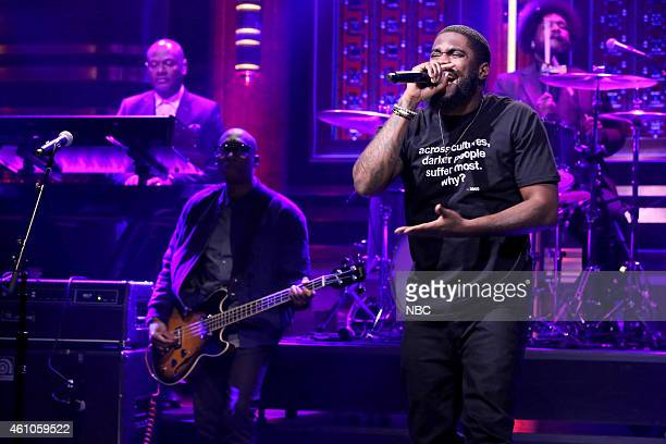 Musical guests Raphael Saadiq and Big KRIT perform with The Roots on January 5 2015